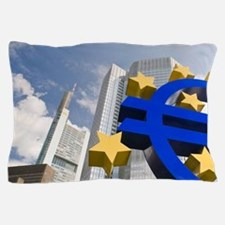 Euro Tower, home of European Central B Pillow Case