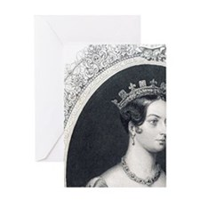 Queen Victoria as a young woman. Rei Greeting Card