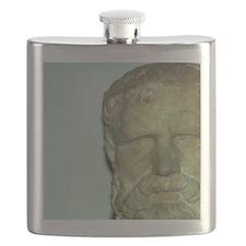 Pythagoras. Greek mathematician. Greek Class Flask