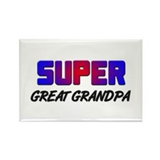SUPER GREAT GRANDPA Rectangle Magnet