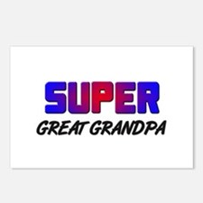 SUPER GREAT GRANDPA Postcards (Package of 8)
