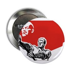 Lenin Plakat Button