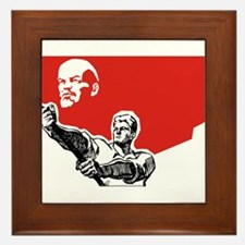 Lenin Plakat Framed Tile