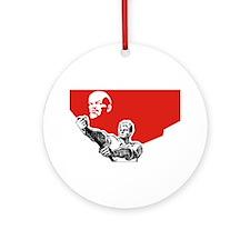 Lenin Plakat Ornament (Round)