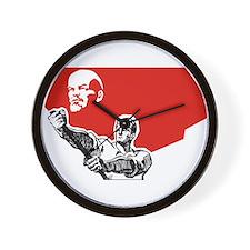 Lenin Plakat Wall Clock