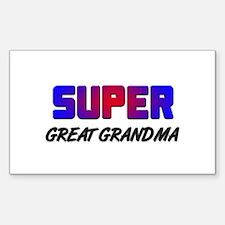 SUPER GREAT GRANDMA Rectangle Decal