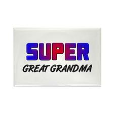 SUPER GREAT GRANDMA Rectangle Magnet