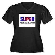 SUPER GREAT GRANDFATHER Women's Plus Size V-Neck D