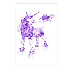 Purple Dappled Unicorn Postcards (Package of 8)
