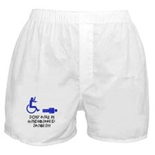 Dont Park in Handicapped Spaces Boxer Shorts