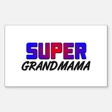 SUPER GRANDMAMA Rectangle Decal