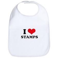 I Love (Heart) Stamps Bib