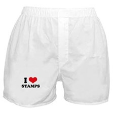 I Love (Heart) Stamps Boxer Shorts