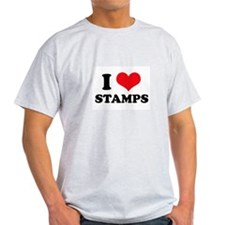 I Love (Heart) Stamps T-Shirt