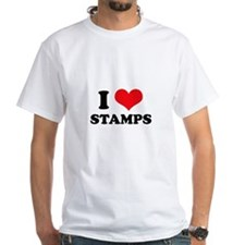 I Love (Heart) Stamps Shirt