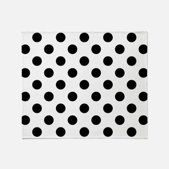Cute Black and white polka dot Throw Blanket