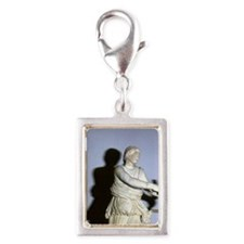 Artemis with bow. Classical  Silver Portrait Charm