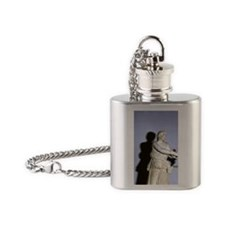 Artemis with bow. Classical Greek s Flask Necklace