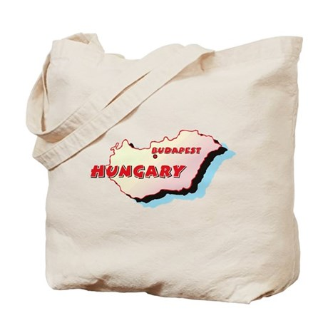 Hungary Map Tote Bag