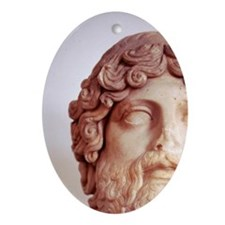 Head of Asklepius Aesculapius. 2nd c Oval Ornament
