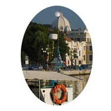 Mytilini Town: Waterfront View of So Oval Ornament