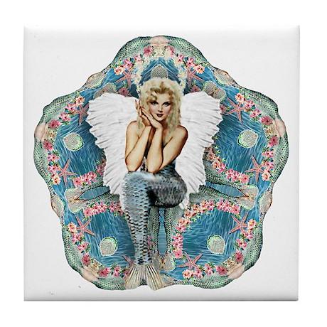 Sand Dollar Angel Tile Coaster