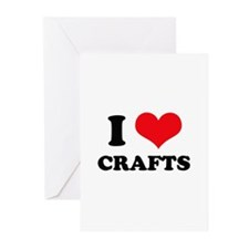 I Love (Heart) Crafts Greeting Cards (Pk of 10