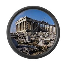 The Acropolis. Athens. Greece. Large Wall Clock