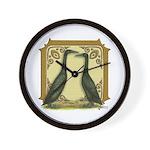 Black Runner Pair Wall Clock