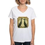Black Runner Pair Women's V-Neck T-Shirt