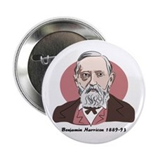 Benjamin Harrison Button Badge
