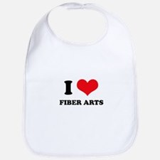I Love (Heart) Fiber Arts Bib