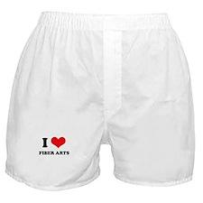 I Love (Heart) Fiber Arts Boxer Shorts
