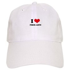 I Love (Heart) Fiber Arts Baseball Cap