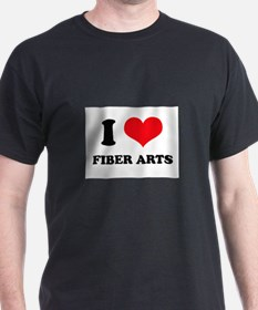 I Love (Heart) Fiber Arts T-Shirt