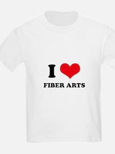 I Love (Heart) Fiber Arts T-Shirt