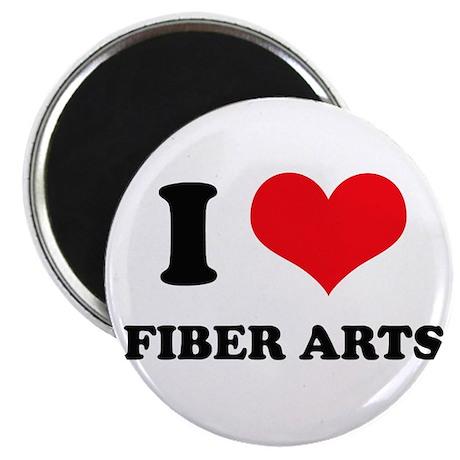 I Love (Heart) Fiber Arts Magnet