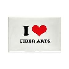 I Love (Heart) Fiber Arts Rectangle Magnet