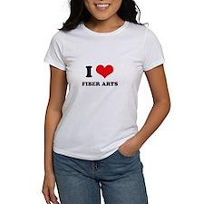 I Love (Heart) Fiber Arts Tee
