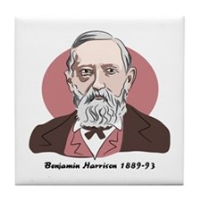 Benjamin Harrison Tile Coaster