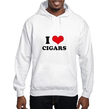 I Love (Heart) Cigars Hooded Sweatshirt