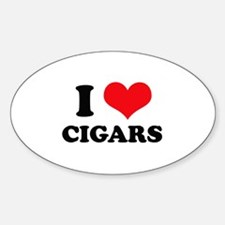 I Love (Heart) Cigars Oval Decal