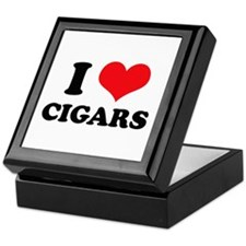 I Love (Heart) Cigars Keepsake Box