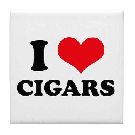 I Love (Heart) Cigars Tile Coaster