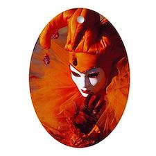Cute Italian mask Ornament (Oval)