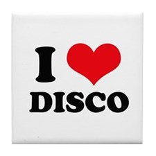 I Love (Heart) Disco Tile Coaster