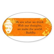 buddha_bumper thoughts copy Decal