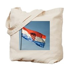 Croatia, Dalmatia, Ston. Croatian flag, b Tote Bag