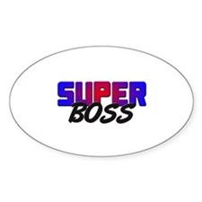 SUPER BOSS Oval Decal