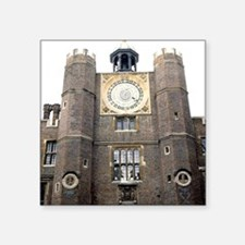 "Hampton Court Palace. Clock Square Sticker 3"" x 3"""